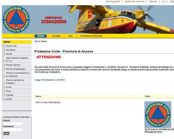 Protezione Civile Provincia Ancona